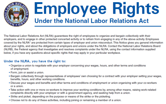 Employees Right to Join a Union