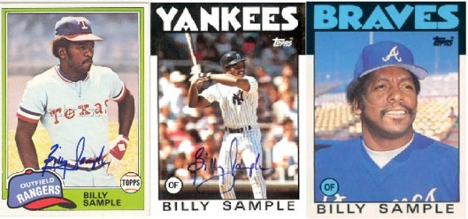Billy Sample,Texas Rangers, Atlanta Braves, NY Yankees