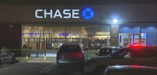 Chase Bank Robbery, Franklin Square, Long Island, New York