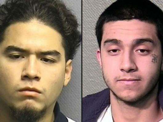 Daniel Moreno, 22, and Jonathan Vasquez, 21, were identified through a Crime Stoppers tip after police released surveillance video. Moreno is in custody but police are still looking for Vasquez. Anyone with information on the whereabouts of Vasquez is urged to contact the HPD Homicide Division at 713-308-3600 or Crime Stoppers at 713-222-TIPS (8477).