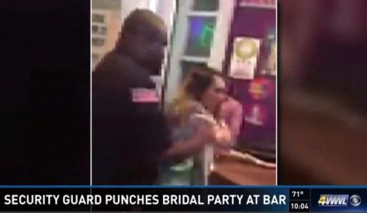 Security Guard, fight, bachelorette party at a New Orleans bar