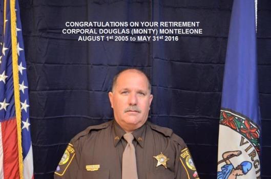 Corporal Douglas (Monty) Monteleone, Fauquier County Sheriff's Office, Fauquier County Virginia, LEOSU