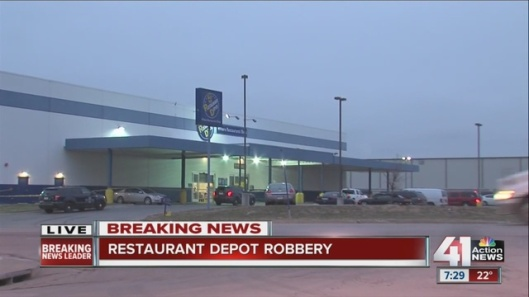 Restaurant Depot Robbery near 15000 West 12th Street KC, Security Guard Shooting