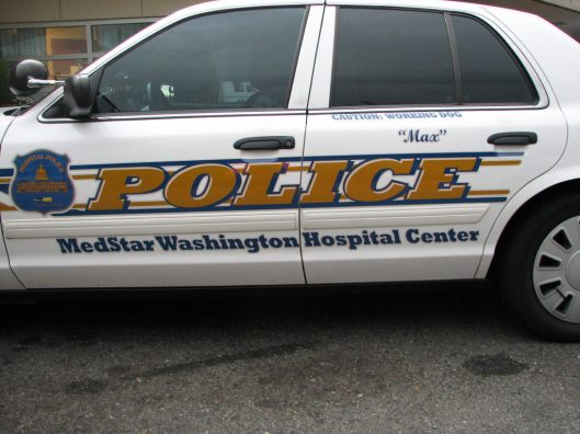 Medstar Washington Hospital Center, Special Police Officers, Washington DC, Medstar Hospital Police Car