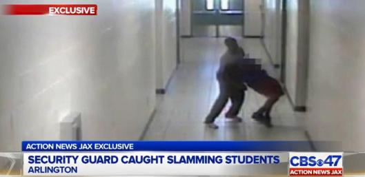 Former security guard Robert Fields is caught on video slamming students to the ground in December
