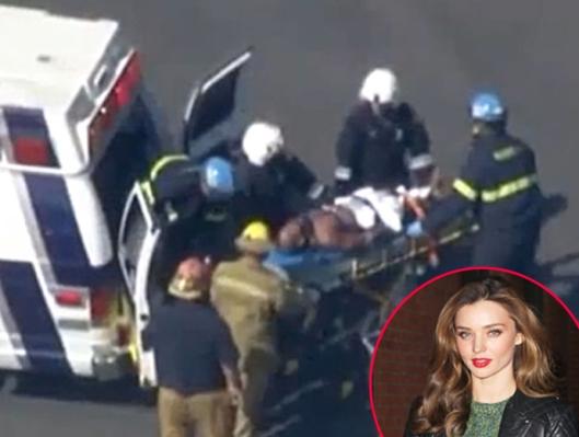 Miranda Kerr Intruder shot after stabbing security guard