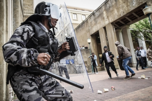 #FeesMustFall protests, SECURITY GUARD