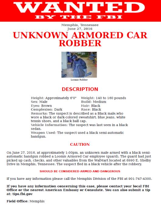 Loomis, Armored Car Robbery, Walmart,
