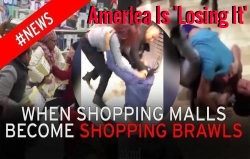 shopping malls, shopping brawls, mall security guards.
