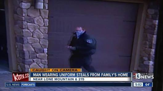 Man breaks into home dressed as security guard