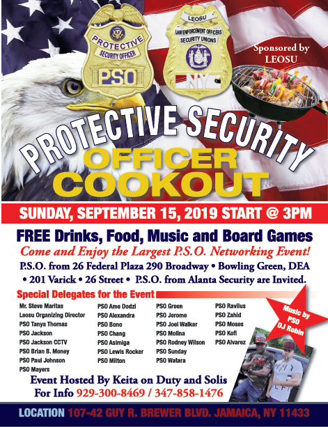 Paragon Systems Inc, PSO, Protective Service Officers Cookout